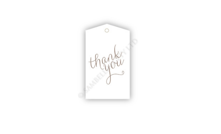 Sambellina Gift Tags - White Thank You