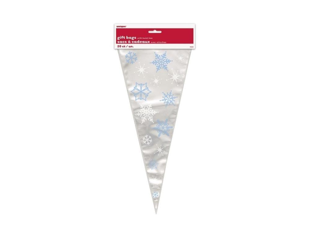 Snowflake Cone Treat Bags - 20pk