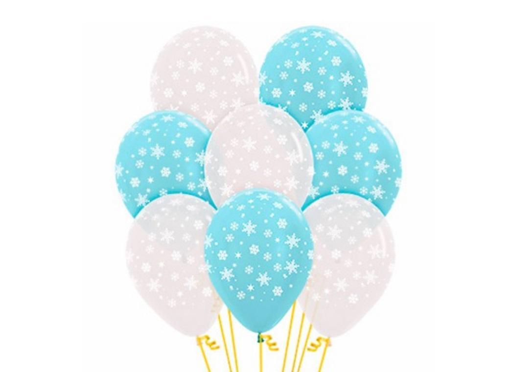 Snowflakes Balloons 12pk