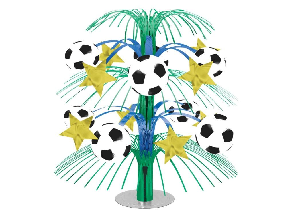 Soccer Cascade Table Centrepiece