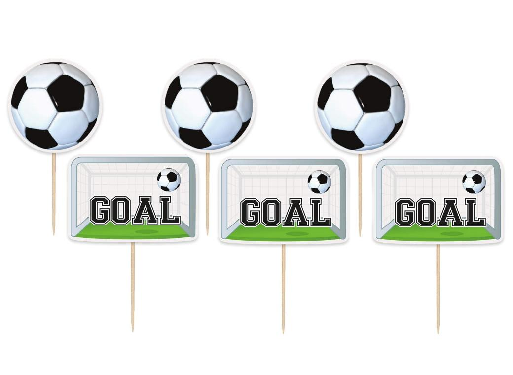 Soccer Cupcake Toppers 6pk