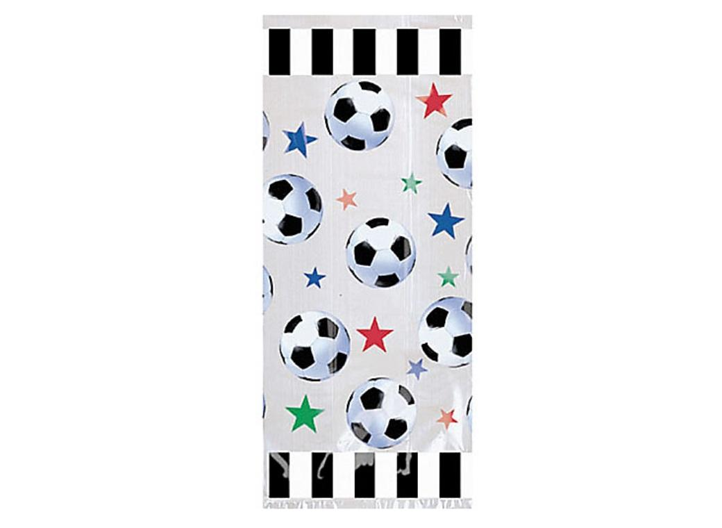 Soccer Fan Cello Party Bags 20pk