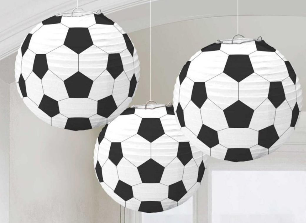 Soccer Fan Paper Lanterns 3pk