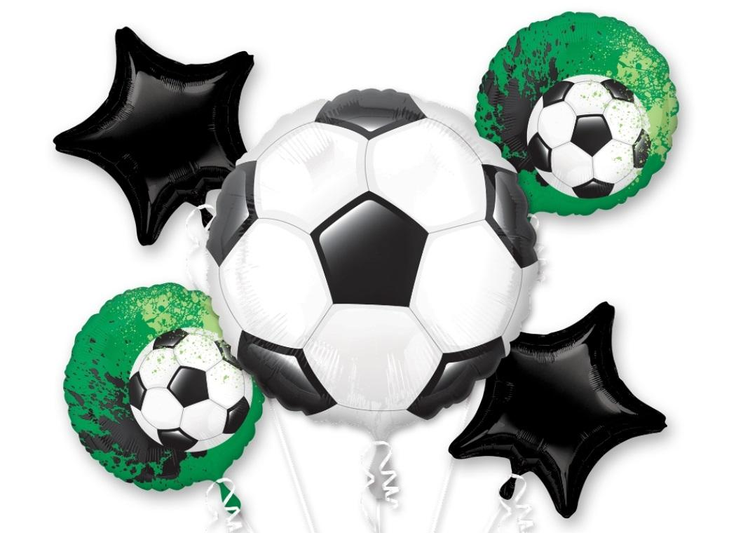 Soccer Foil Balloon Bouquet
