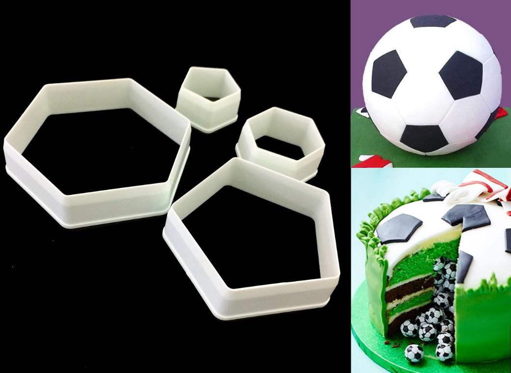 Soccer Ball 4pce Cutter Set