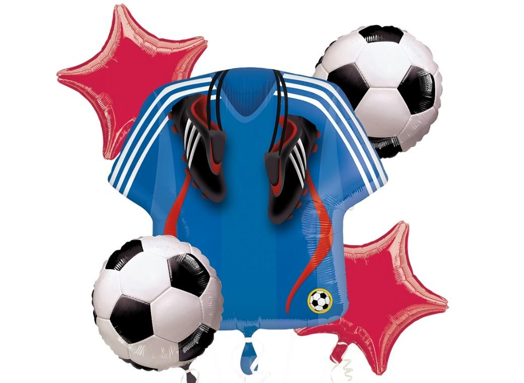Soccer Player Foil Balloon Bouquet