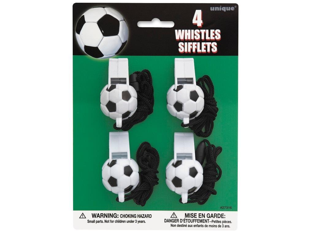 Soccer Whistles - 4pk