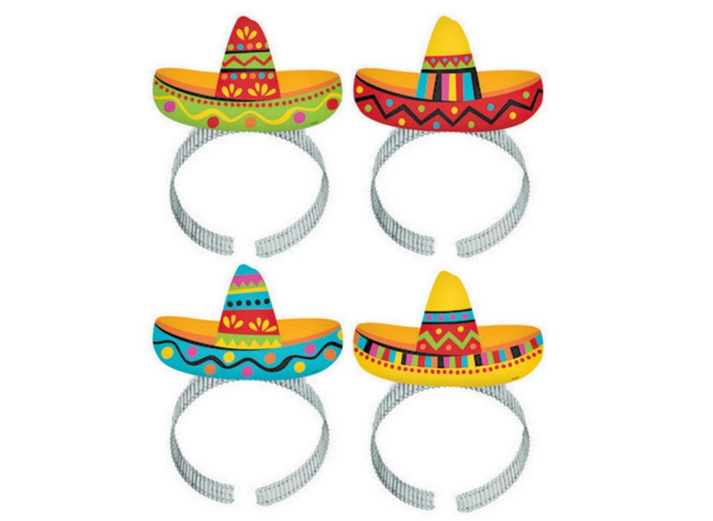 Sombrero Headbands 8pk