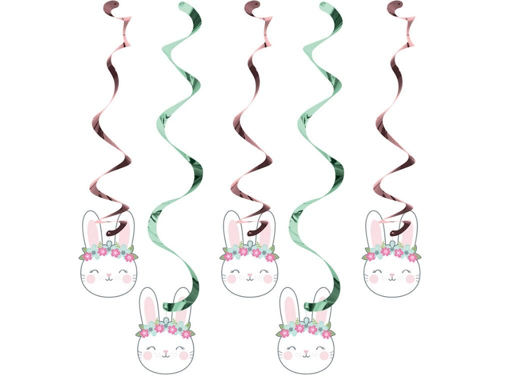 Some Bunny Hanging Swirl Decorations