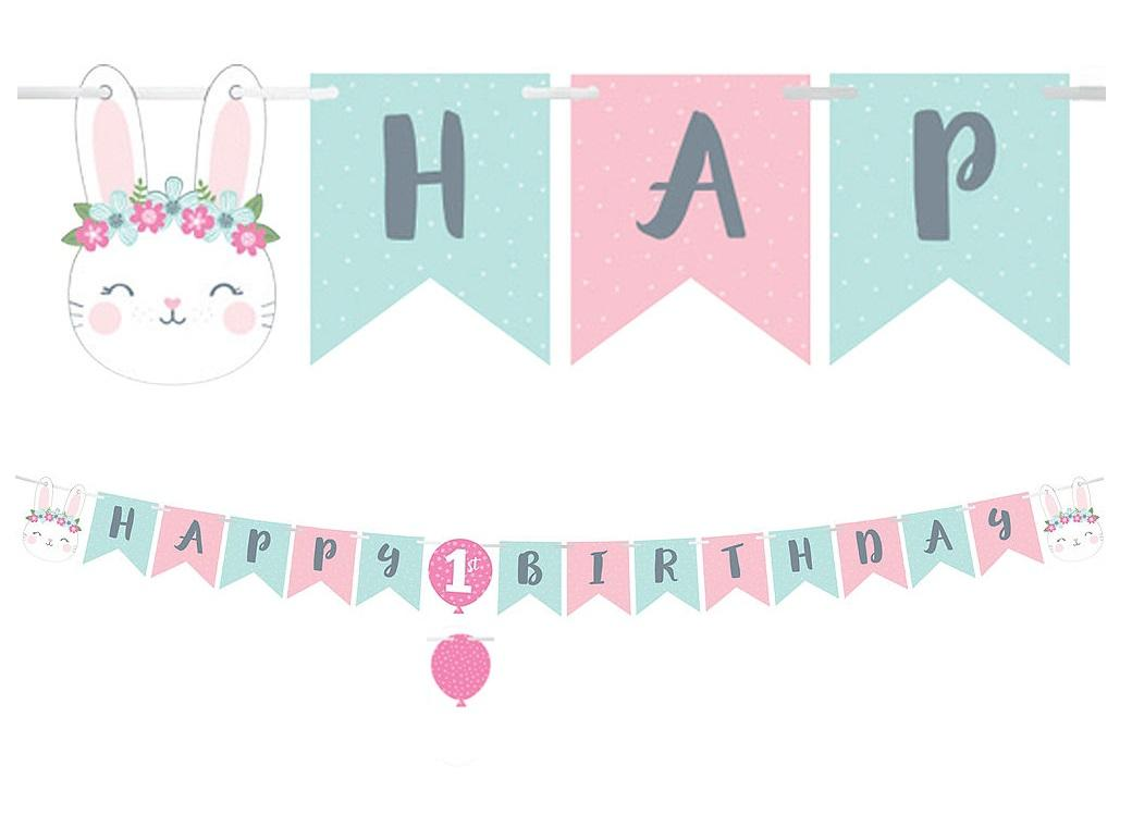 Some Bunny Happy Birthday Banner