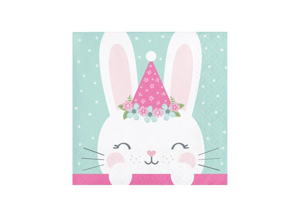 Some Bunny Party Hat Beverage Napkins 16pk
