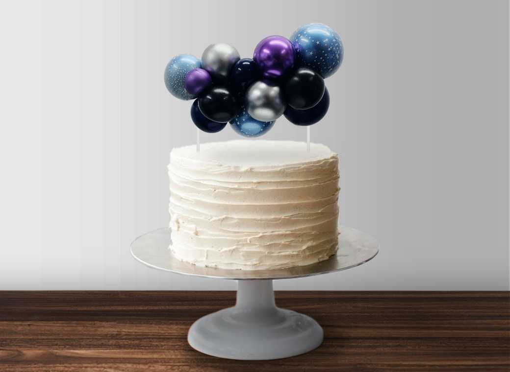 Balloon Garland Cake Topper - Space