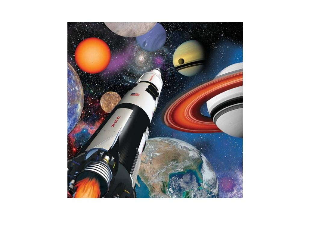 Space Blast Beverage Napkins 16pk