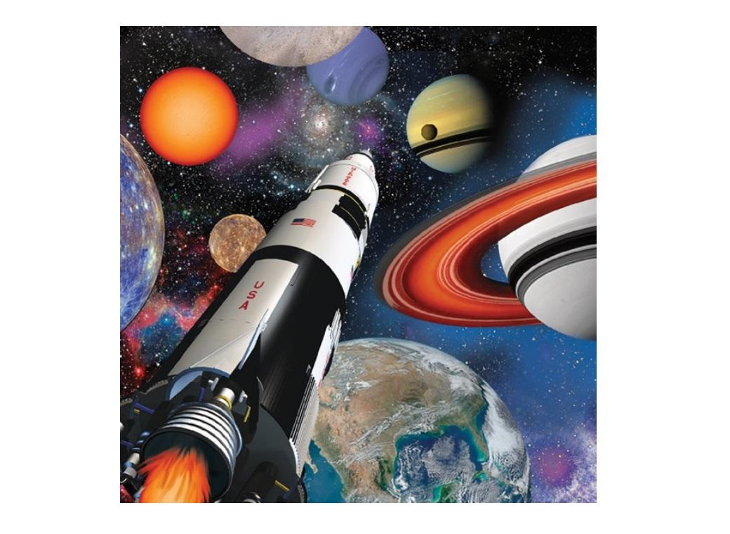 Space Blast Lunch Napkins 16pk