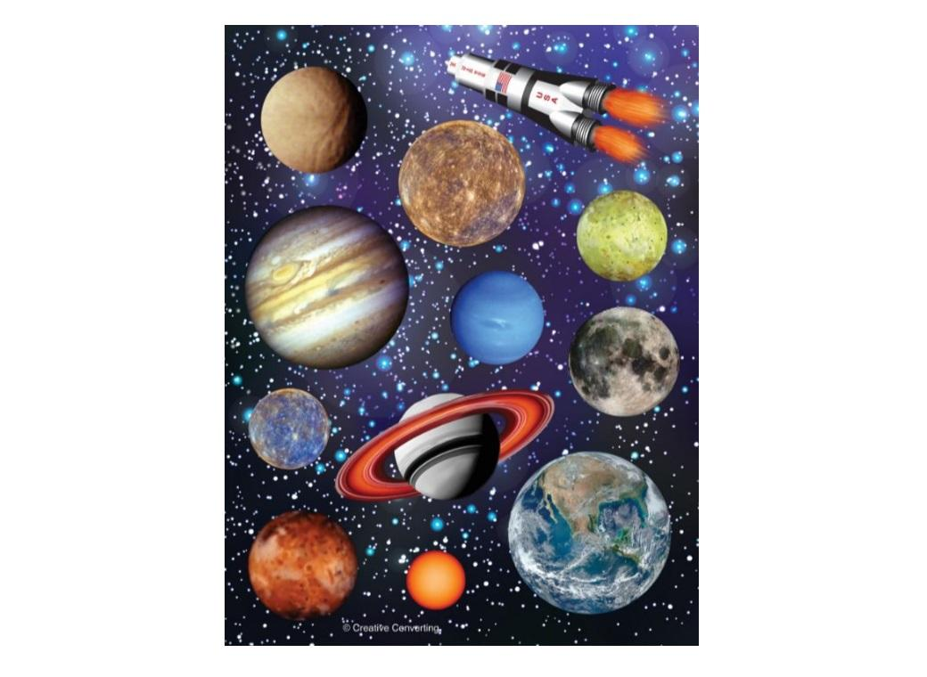 Space Blast Stickers 4pk