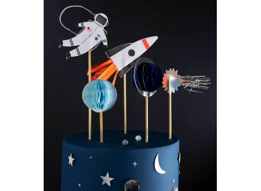 Space Cake Topper Set