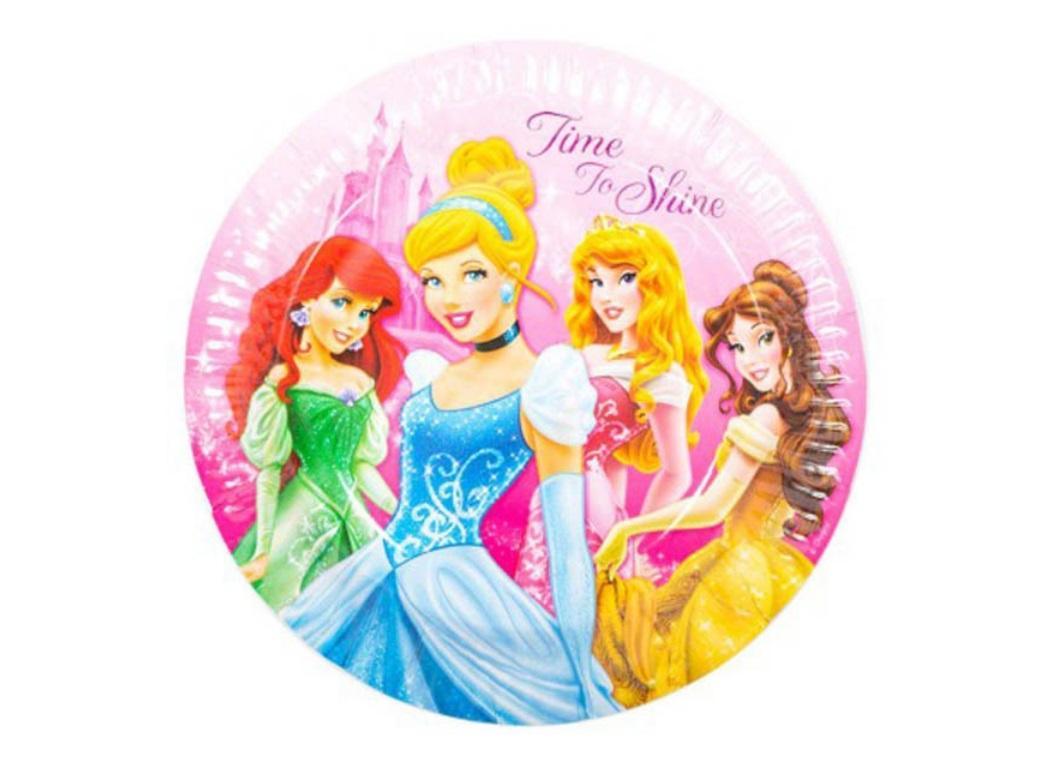Sparkle Princess Round Plates - 8pk