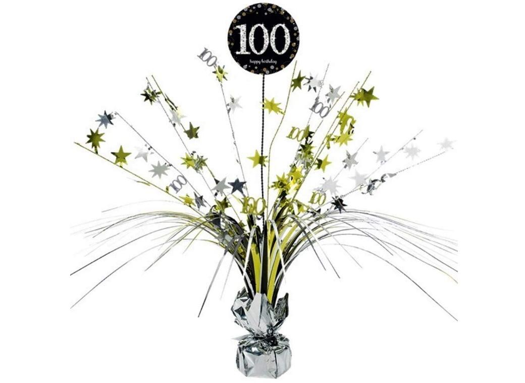Sparkling 100th Birthday Centrepiece Spray