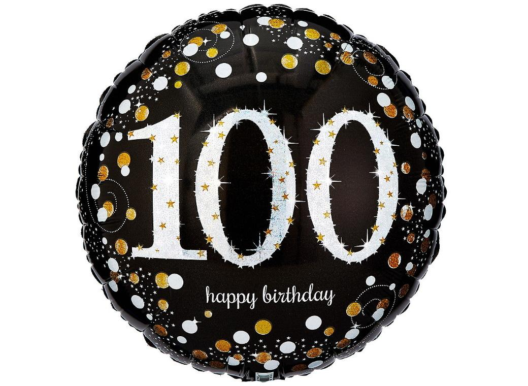 Sparkling 100th Birthday Foil Balloon