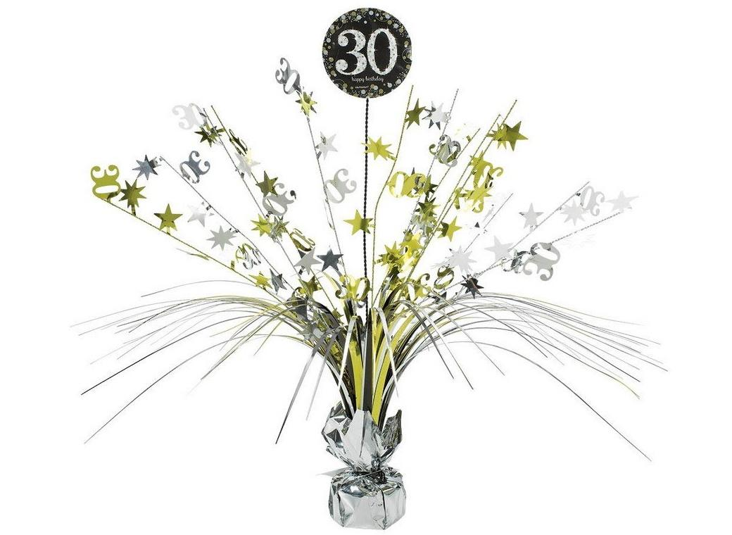 Sparkling 30th Birthday Centrepiece Spray