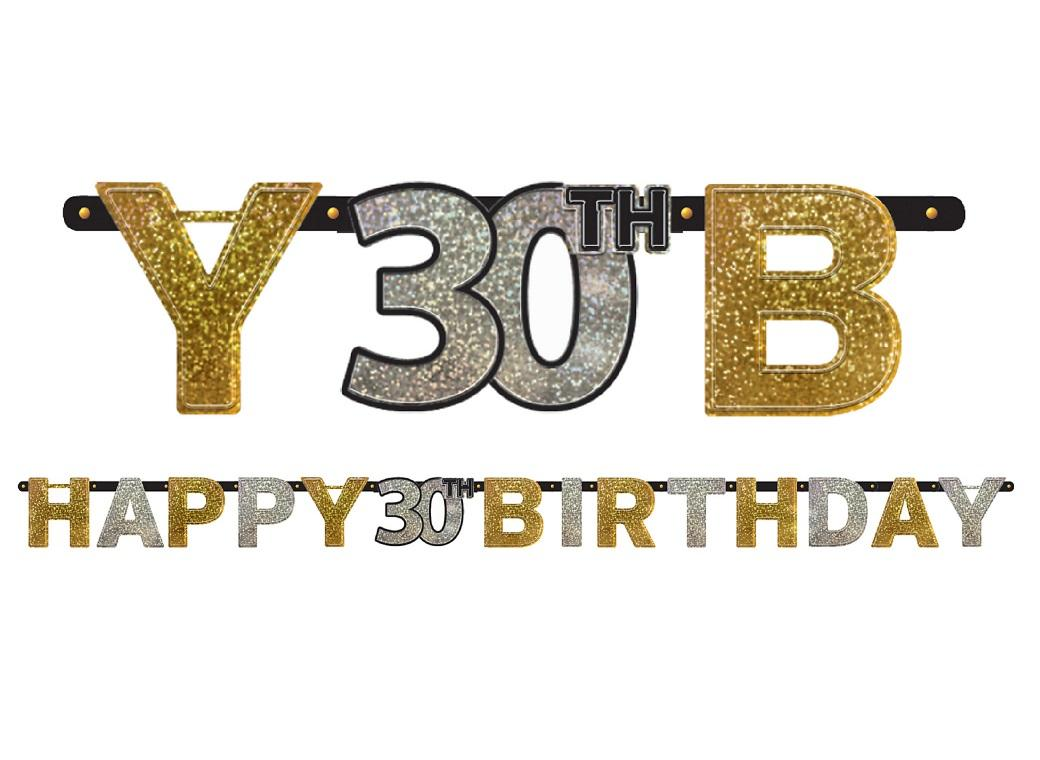 Sparkling 30th Birthday Banner