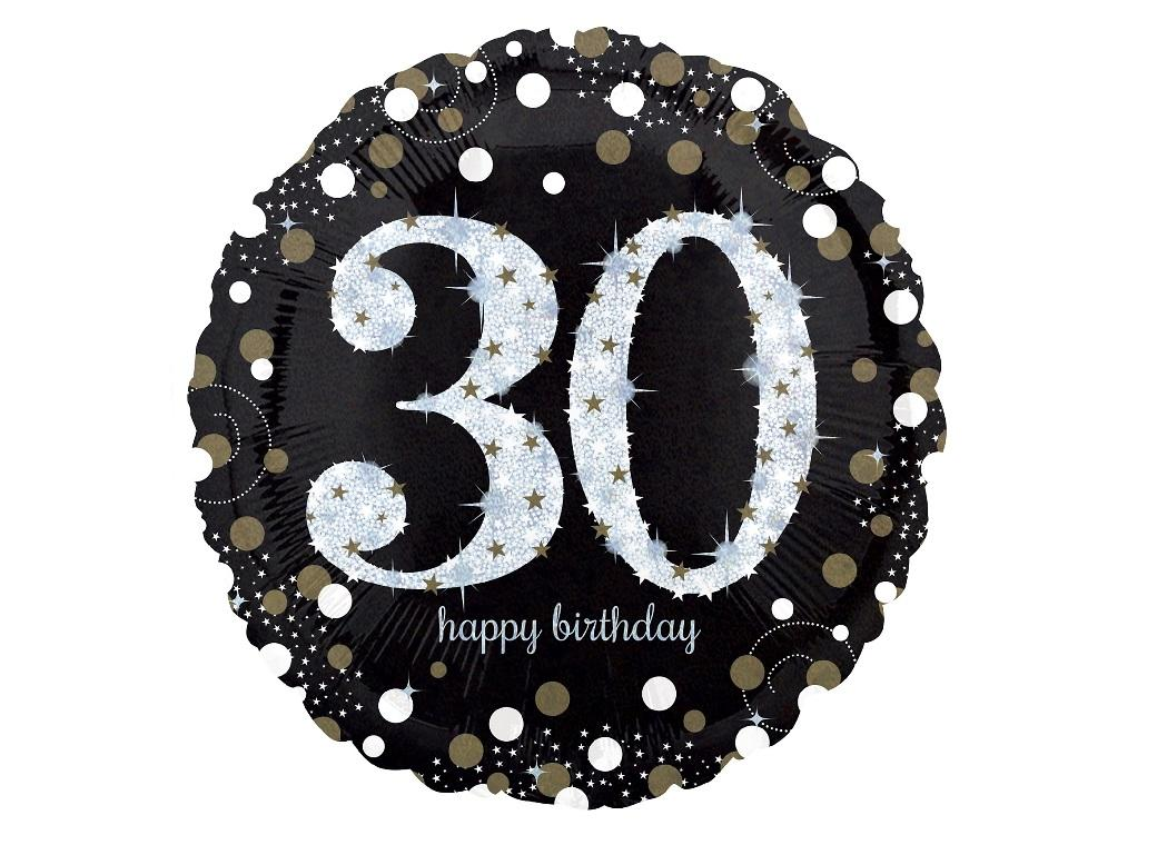 Sparkling 30th Birthday Foil Balloon