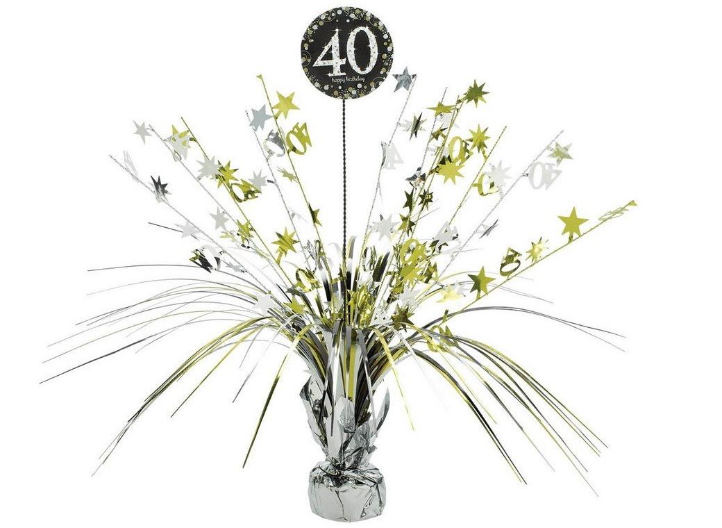 Sparkling 40th Birthday Centrepiece Spray