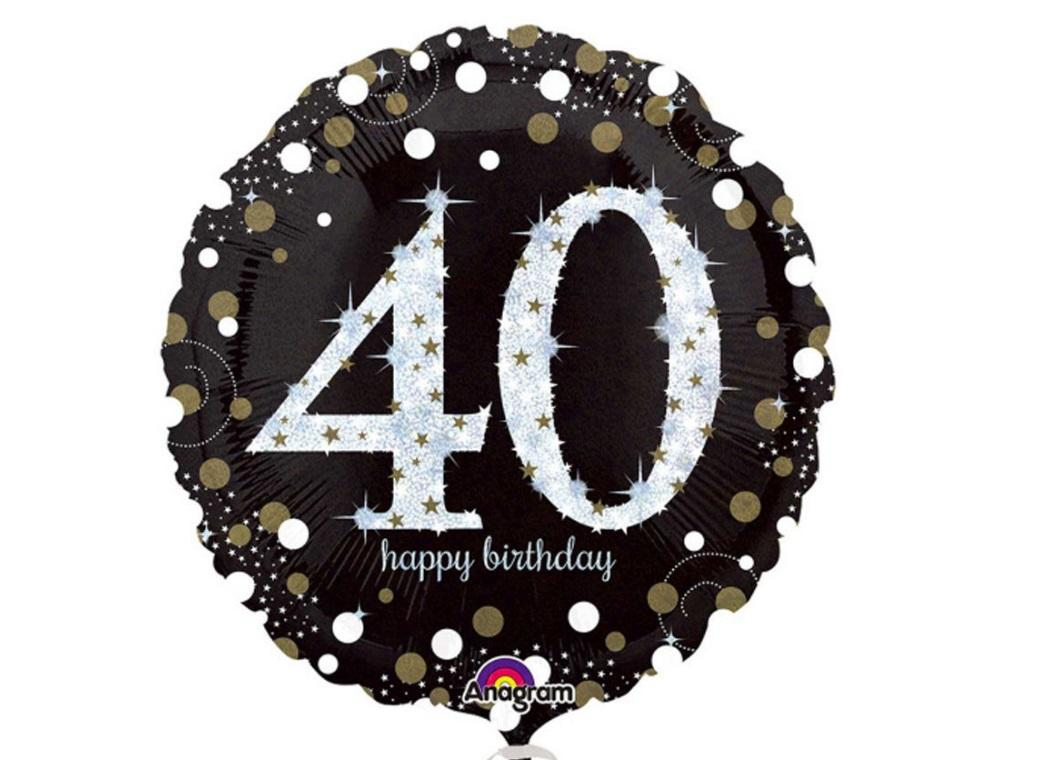 Sparkling 40th Birthday Foil Balloon