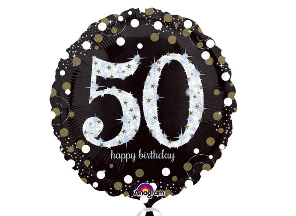 Sparkling 50th Birthday Foil Balloon