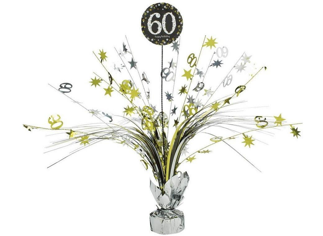 Sparkling 60th Birthday Centrepiece Spray