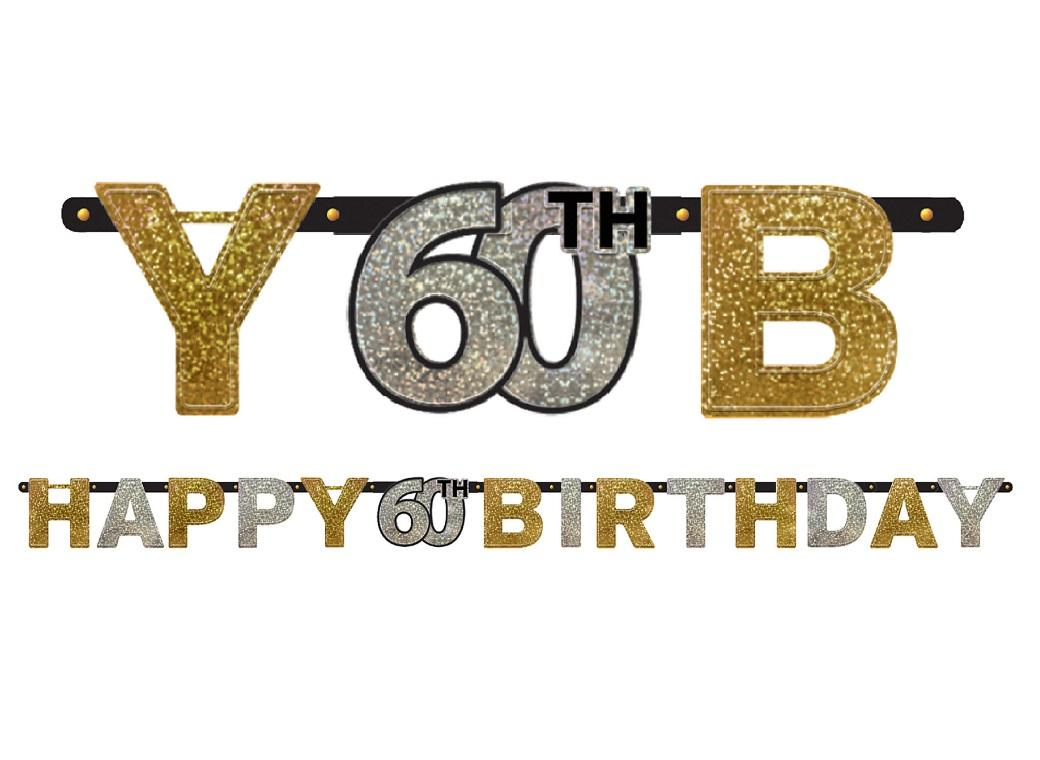 Sparkling 60th Birthday Banner