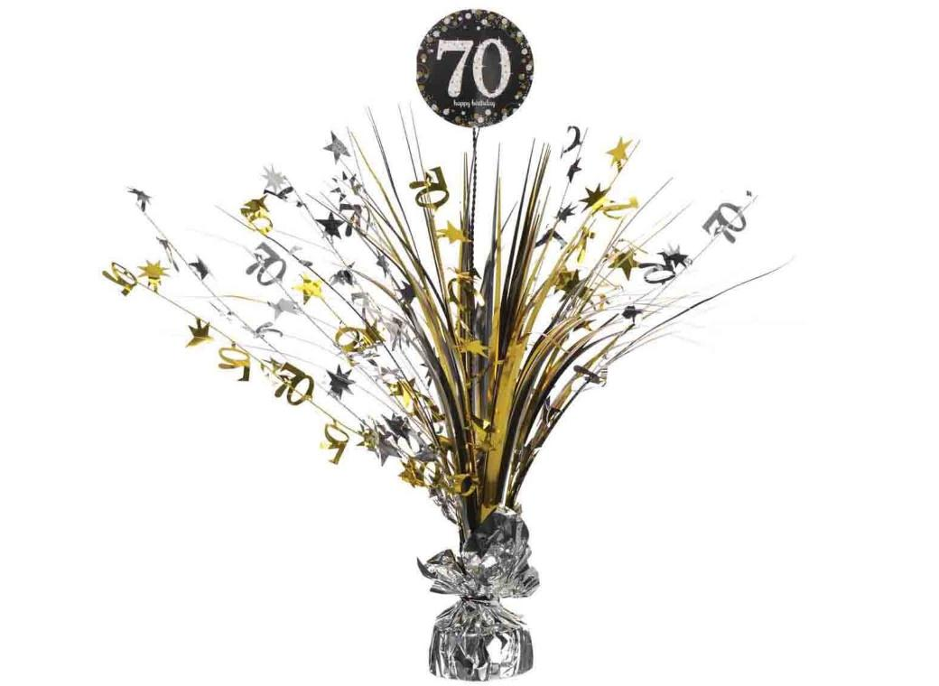 Sparkling 70th Birthday Centrepiece Spray