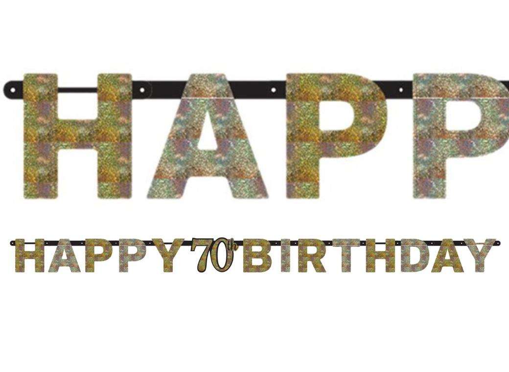 Sparkling 70th Birthday Banner