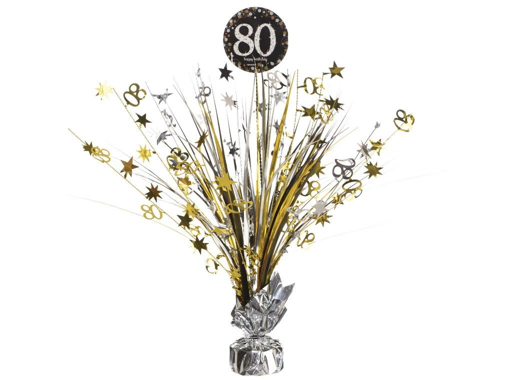 Sparkling 80th Birthday Centrepiece Spray