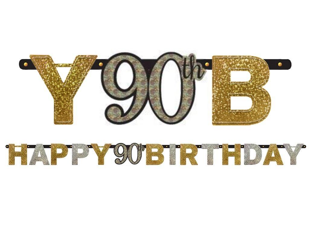 Sparkling 90th Birthday Banner
