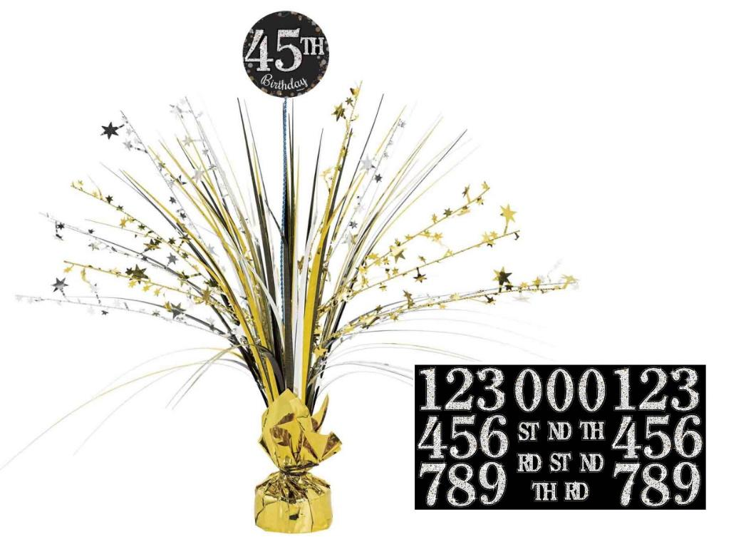 Sparkling Add Any Age Birthday Centrepiece Spray