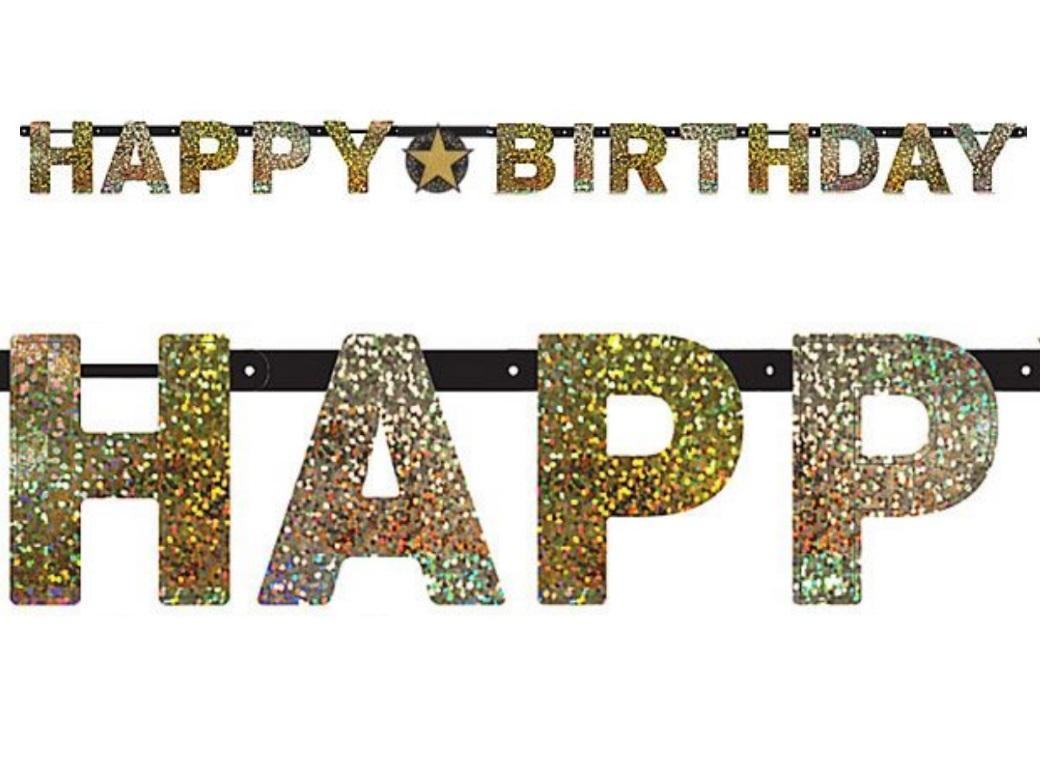 Sparkling Happy Birthday Banner