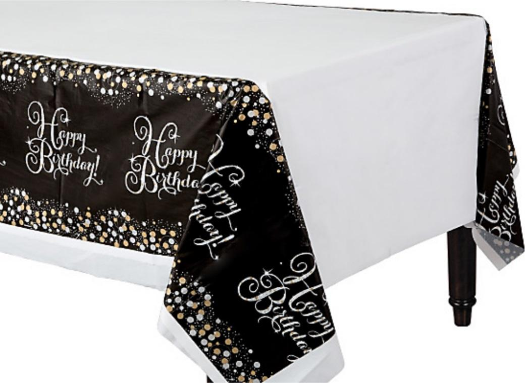 Sparkling Happy Birthday Tablecover