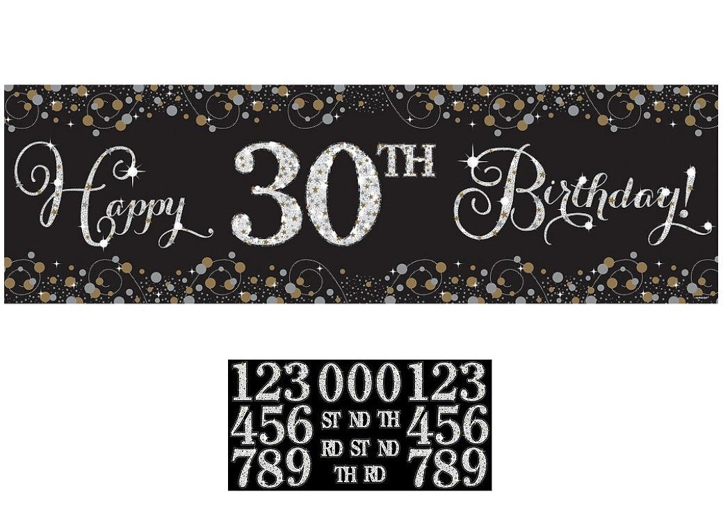 Sparkling Happy Birthday Banner Kit