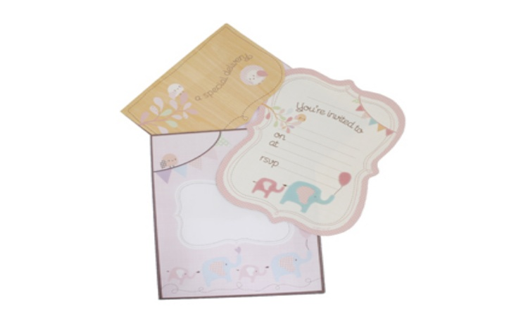 hiPP Special Delivery Pink Elephant Invitations – Pack of 25