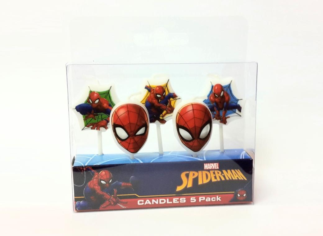 Party Candles - Spiderman
