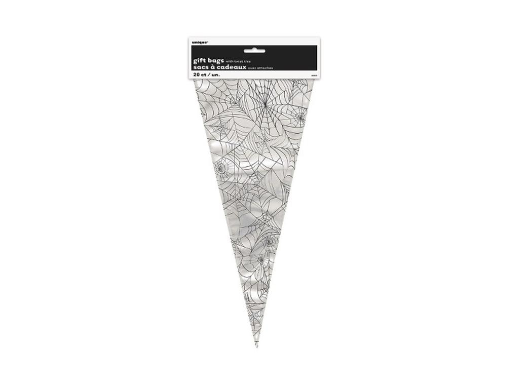 Spider Web Cone Treat Bags - 20pk