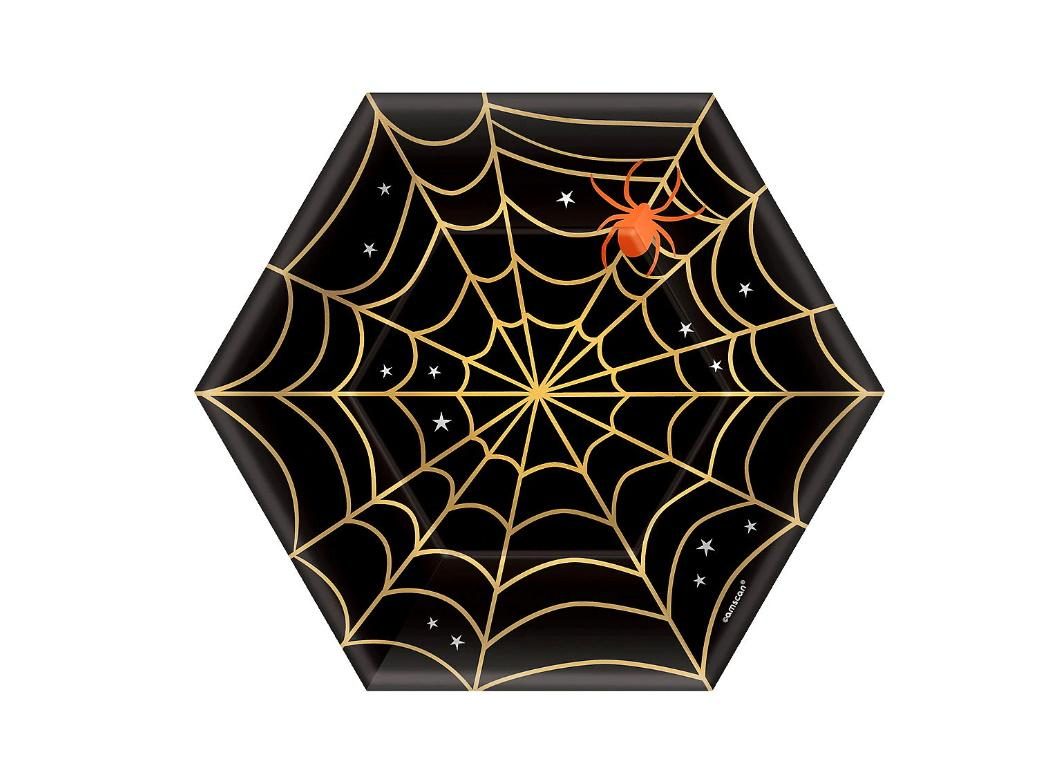 Spider Web Lunch Plates 8pk