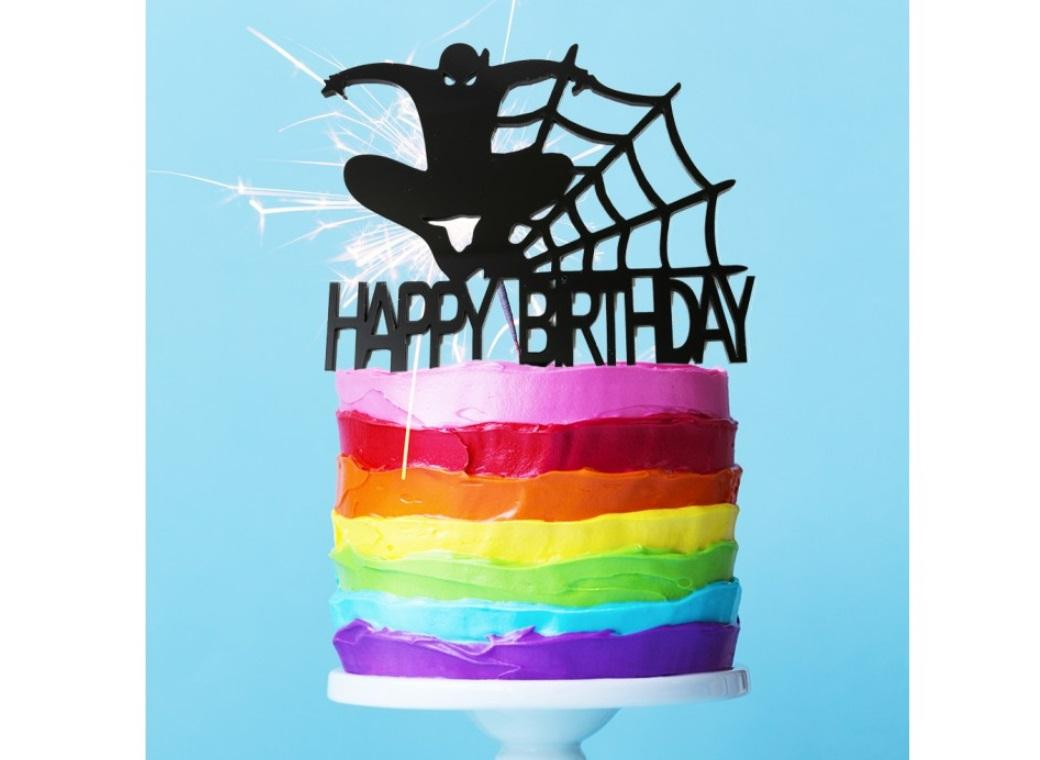 Spiderman Cake Topper Black