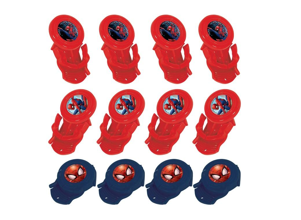 Spiderman Mini Disc Shooters 12pk