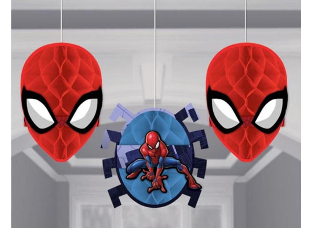 Spiderman Honeycomb Hanging Decorations