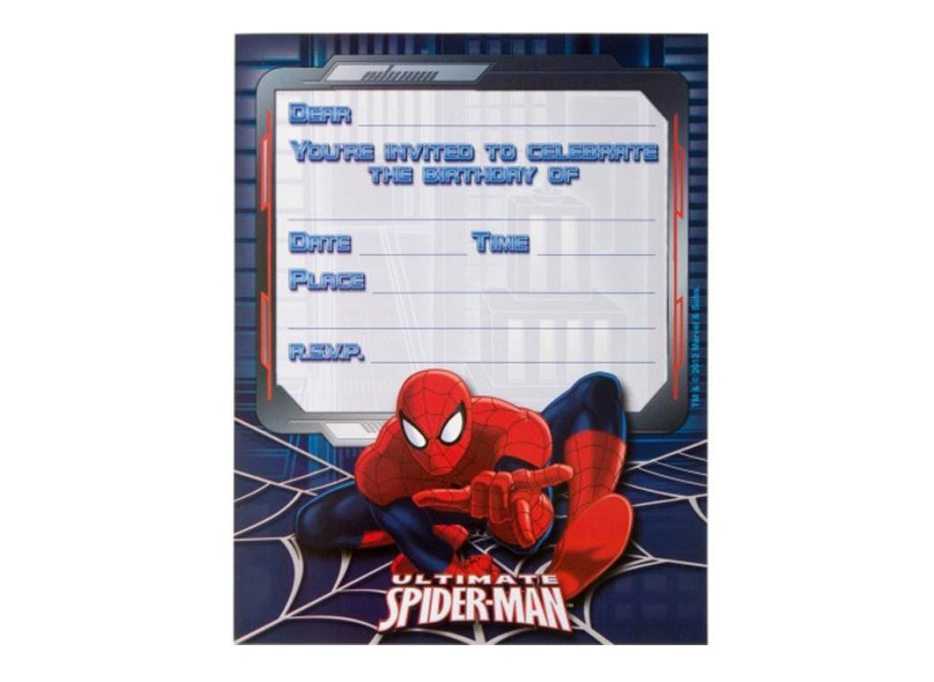 Spiderman - Invitations 8pk