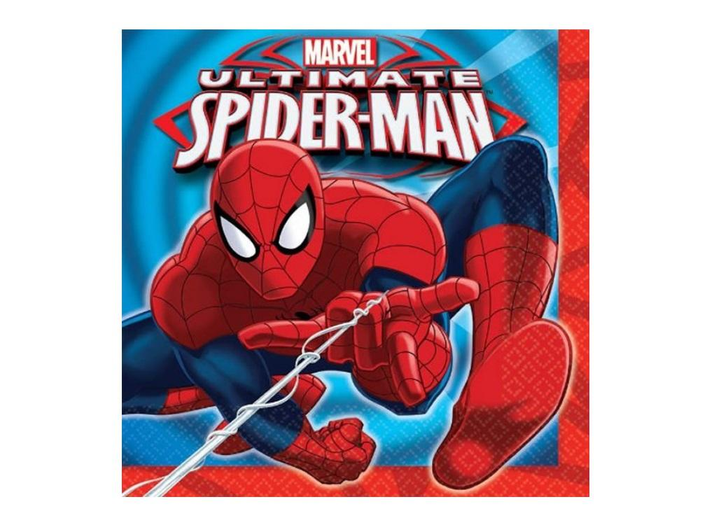 Spiderman Lunch Napkins - 16pk