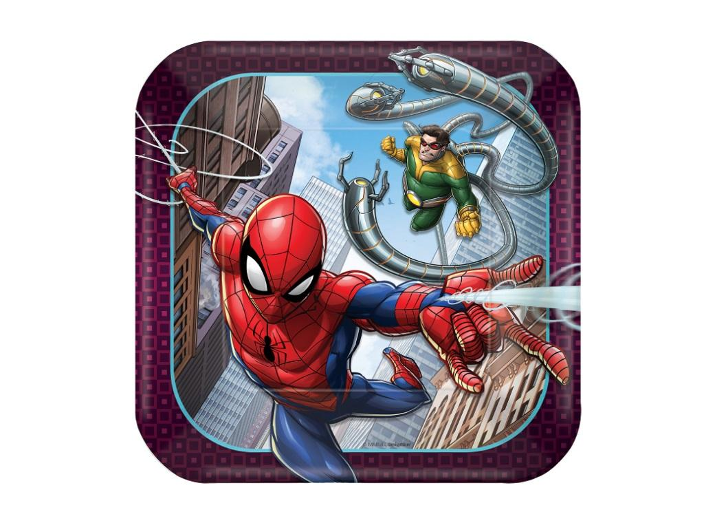 Spiderman Lunch Plates 8pk