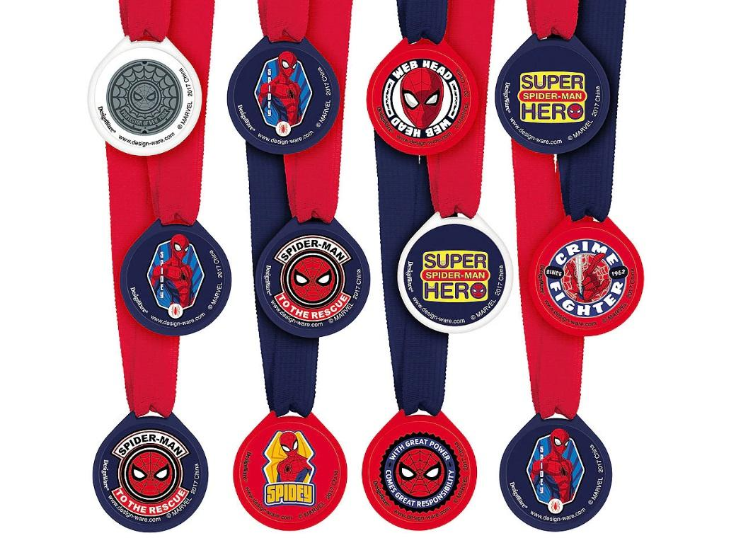 Spiderman Mini Award Medals 12pk